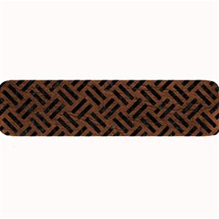 Woven2 Black Marble & Dull Brown Leather Large Bar Mats by trendistuff