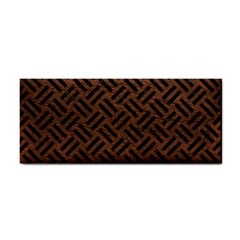 Woven2 Black Marble & Dull Brown Leather Cosmetic Storage Cases by trendistuff