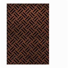 Woven2 Black Marble & Dull Brown Leather Small Garden Flag (two Sides) by trendistuff
