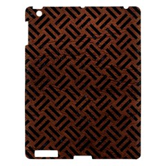 Woven2 Black Marble & Dull Brown Leather Apple Ipad 3/4 Hardshell Case by trendistuff