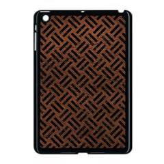 Woven2 Black Marble & Dull Brown Leather Apple Ipad Mini Case (black) by trendistuff