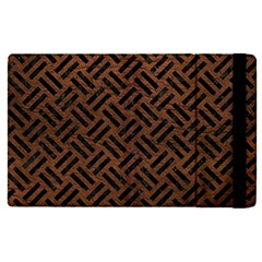 Woven2 Black Marble & Dull Brown Leather Apple Ipad Pro 12 9   Flip Case by trendistuff