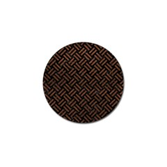 Woven2 Black Marble & Dull Brown Leather (r) Golf Ball Marker (10 Pack) by trendistuff