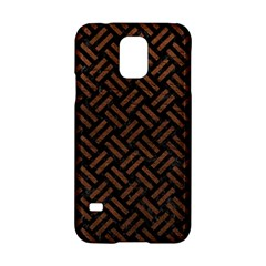 Woven2 Black Marble & Dull Brown Leather (r) Samsung Galaxy S5 Hardshell Case  by trendistuff