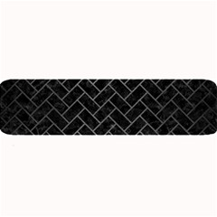 Brick2 Black Marble & Gray Brushed Metal (r) Large Bar Mats by trendistuff