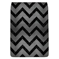 Chevron9 Black Marble & Gray Brushed Metal Flap Covers (l)  by trendistuff