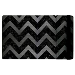 Chevron9 Black Marble & Gray Brushed Metal (r) Apple Ipad Pro 9 7   Flip Case by trendistuff