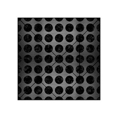 Circles1 Black Marble & Gray Brushed Metal Acrylic Tangram Puzzle (4  X 4 ) by trendistuff