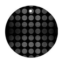 Circles1 Black Marble & Gray Brushed Metal (r) Round Ornament (two Sides) by trendistuff