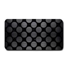 Circles2 Black Marble & Gray Brushed Metal (r) Medium Bar Mats by trendistuff