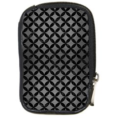 Circles3 Black Marble & Gray Brushed Metal Compact Camera Cases by trendistuff