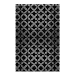 Circles3 Black Marble & Gray Brushed Metal (r) Shower Curtain 48  X 72  (small)  by trendistuff