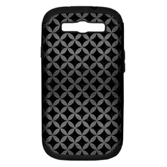 Circles3 Black Marble & Gray Brushed Metal (r) Samsung Galaxy S Iii Hardshell Case (pc+silicone) by trendistuff