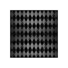 Diamond1 Black Marble & Gray Brushed Metal Acrylic Tangram Puzzle (4  X 4 ) by trendistuff
