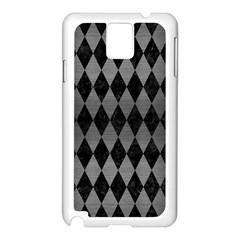 Diamond1 Black Marble & Gray Brushed Metal Samsung Galaxy Note 3 N9005 Case (white)