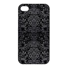 Damask2 Black Marble & Gray Brushed Metal (r) Apple Iphone 4/4s Hardshell Case by trendistuff