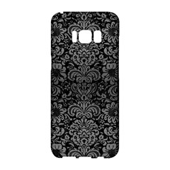 Damask2 Black Marble & Gray Brushed Metal (r) Samsung Galaxy S8 Hardshell Case  by trendistuff