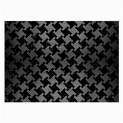 Houndstooth2 Black Marble & Gray Brushed Metal Large Glasses Cloth (2 Side) by trendistuff