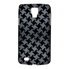 Houndstooth2 Black Marble & Gray Brushed Metal Galaxy S4 Active by trendistuff