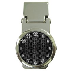 Hexagon1 Black Marble & Gray Brushed Metal (r) Money Clip Watches by trendistuff