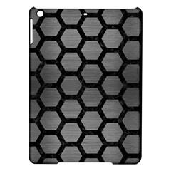Hexagon2 Black Marble & Gray Brushed Metal Ipad Air Hardshell Cases by trendistuff