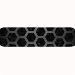 Hexagon2 Black Marble & Gray Brushed Metal (r) Large Bar Mats by trendistuff