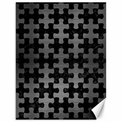 Puzzle1 Black Marble & Gray Brushed Metal Canvas 12  X 16   by trendistuff