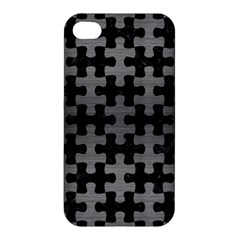 Puzzle1 Black Marble & Gray Brushed Metal Apple Iphone 4/4s Hardshell Case by trendistuff