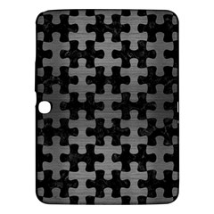 Puzzle1 Black Marble & Gray Brushed Metal Samsung Galaxy Tab 3 (10 1 ) P5200 Hardshell Case  by trendistuff