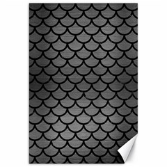 Scales1 Black Marble & Gray Brushed Metal Canvas 20  X 30   by trendistuff