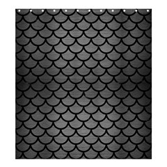 Scales1 Black Marble & Gray Brushed Metal Shower Curtain 66  X 72  (large)