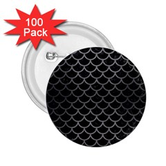 Scales1 Black Marble & Gray Brushed Metal (r) 2 25  Buttons (100 Pack)