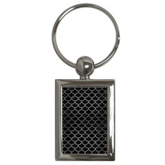 Scales1 Black Marble & Gray Brushed Metal (r) Key Chains (rectangle)  by trendistuff