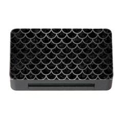 Scales1 Black Marble & Gray Brushed Metal (r) Memory Card Reader With Cf by trendistuff