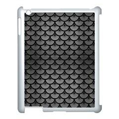 Scales3 Black Marble & Gray Brushed Metal Apple Ipad 3/4 Case (white) by trendistuff