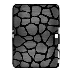 Skin1 Black Marble & Gray Brushed Metal (r) Samsung Galaxy Tab 4 (10 1 ) Hardshell Case  by trendistuff