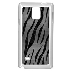 Skin3 Black Marble & Gray Brushed Metal Samsung Galaxy Note 4 Case (white) by trendistuff