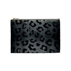 Skin5 Black Marble & Gray Brushed Metal (r) Cosmetic Bag (medium)  by trendistuff
