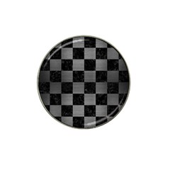 Square1 Black Marble & Gray Brushed Metal Hat Clip Ball Marker (4 Pack) by trendistuff