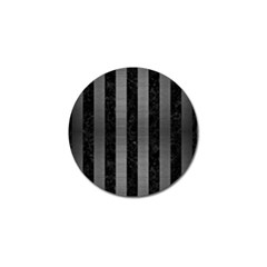 Stripes1 Black Marble & Gray Brushed Metal Golf Ball Marker by trendistuff