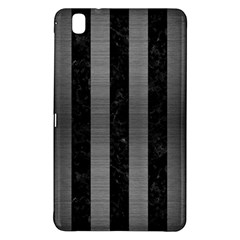 Stripes1 Black Marble & Gray Brushed Metal Samsung Galaxy Tab Pro 8 4 Hardshell Case by trendistuff