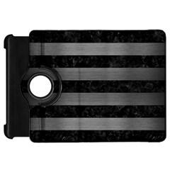 Stripes2 Black Marble & Gray Brushed Metal Kindle Fire Hd 7  by trendistuff