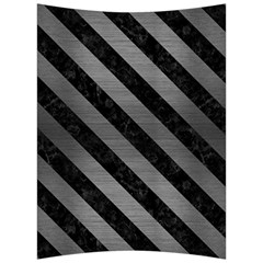 Stripes3 Black Marble & Gray Brushed Metal Back Support Cushion by trendistuff