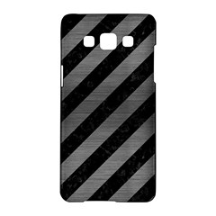 Stripes3 Black Marble & Gray Brushed Metal (r) Samsung Galaxy A5 Hardshell Case  by trendistuff