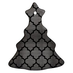 Tile1 Black Marble & Gray Brushed Metal Ornament (christmas Tree)