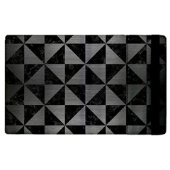 Triangle1 Black Marble & Gray Brushed Metal Apple Ipad 2 Flip Case by trendistuff