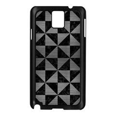 Triangle1 Black Marble & Gray Brushed Metal Samsung Galaxy Note 3 N9005 Case (black) by trendistuff