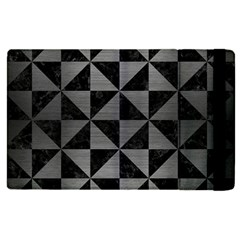 Triangle1 Black Marble & Gray Brushed Metal Apple Ipad Pro 12 9   Flip Case by trendistuff