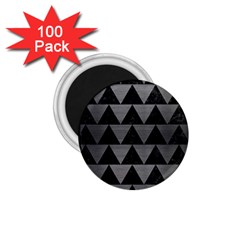 Triangle2 Black Marble & Gray Brushed Metal 1 75  Magnets (100 Pack)  by trendistuff