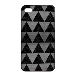 Triangle2 Black Marble & Gray Brushed Metal Apple Iphone 4/4s Seamless Case (black) by trendistuff